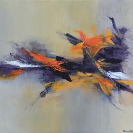 """Envolée I (24 x 30"""") Acrylic on canvas🔴"""