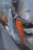 (VENDU) Sérénité (36 po x 24 po) Techniques mixtes sur toile galerie