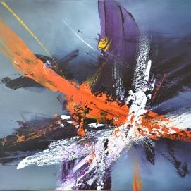 """Envolée II (24 x 30"""") Acrylic on canvas🔴"""
