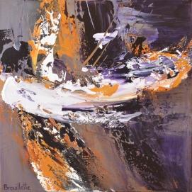 "Corps et ame (16 x 16"") Acrylic on canvas"