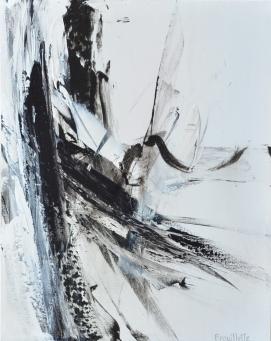 Ying-Yang III (20 x 16 po) Techniques mixtes sur toile, Disponible à l'atelier de l'artiste