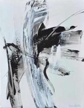 Ying-Yang II (20 x 16 po) Techniques mixtes sur toile (Disponible à l'atelier de l'artiste