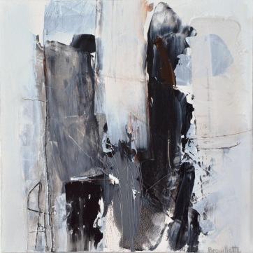 Entre les lignes III (12 x 12 po) Disponible à la galerie d'art Pauline T. Paquin