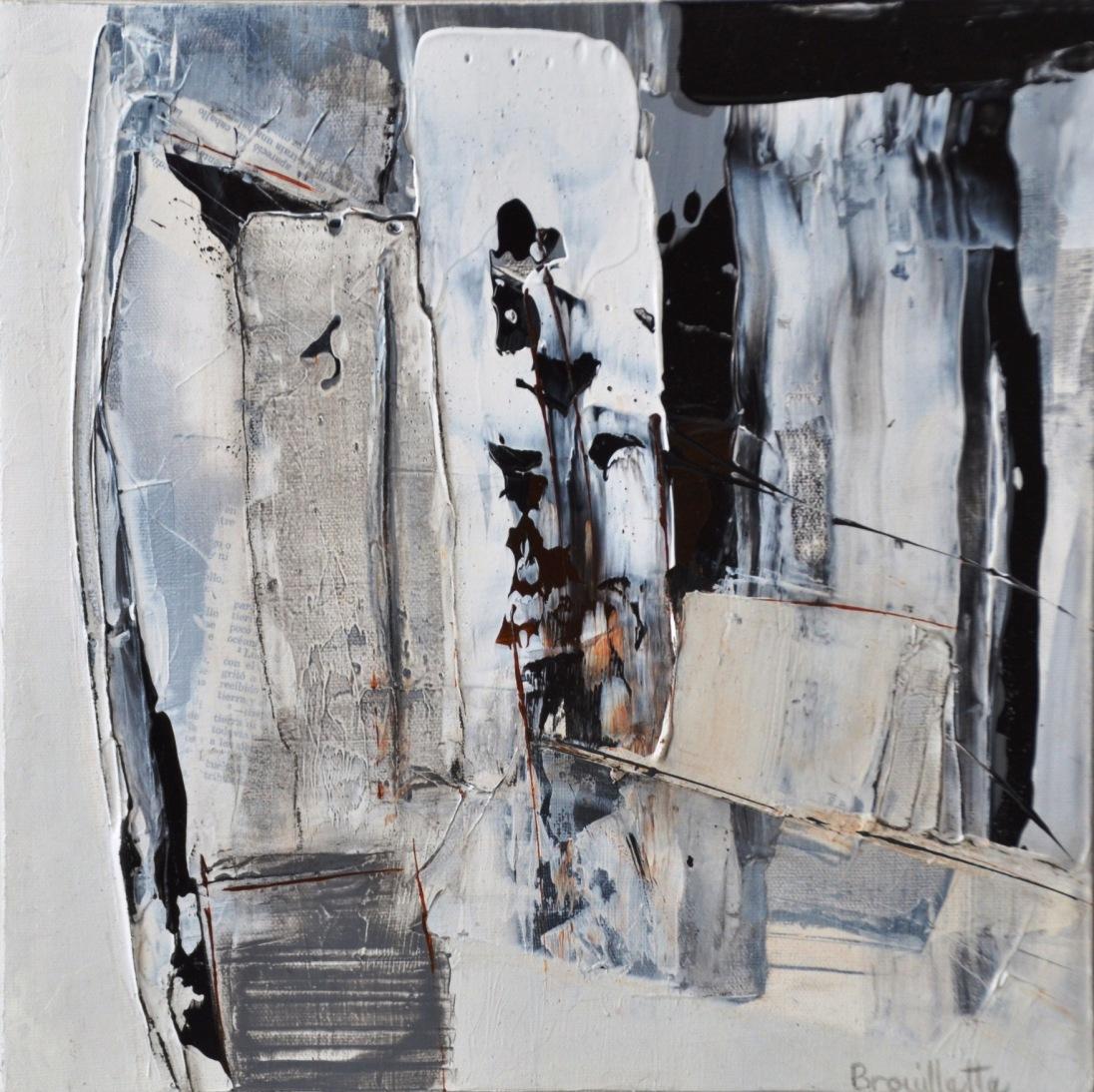 Entre les lignes II (12 x 12 po) Disponible à l'atelier de l'artiste