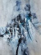 Neige éternelle (40 x 30 po) Techniques mixtes sur toile galerie
