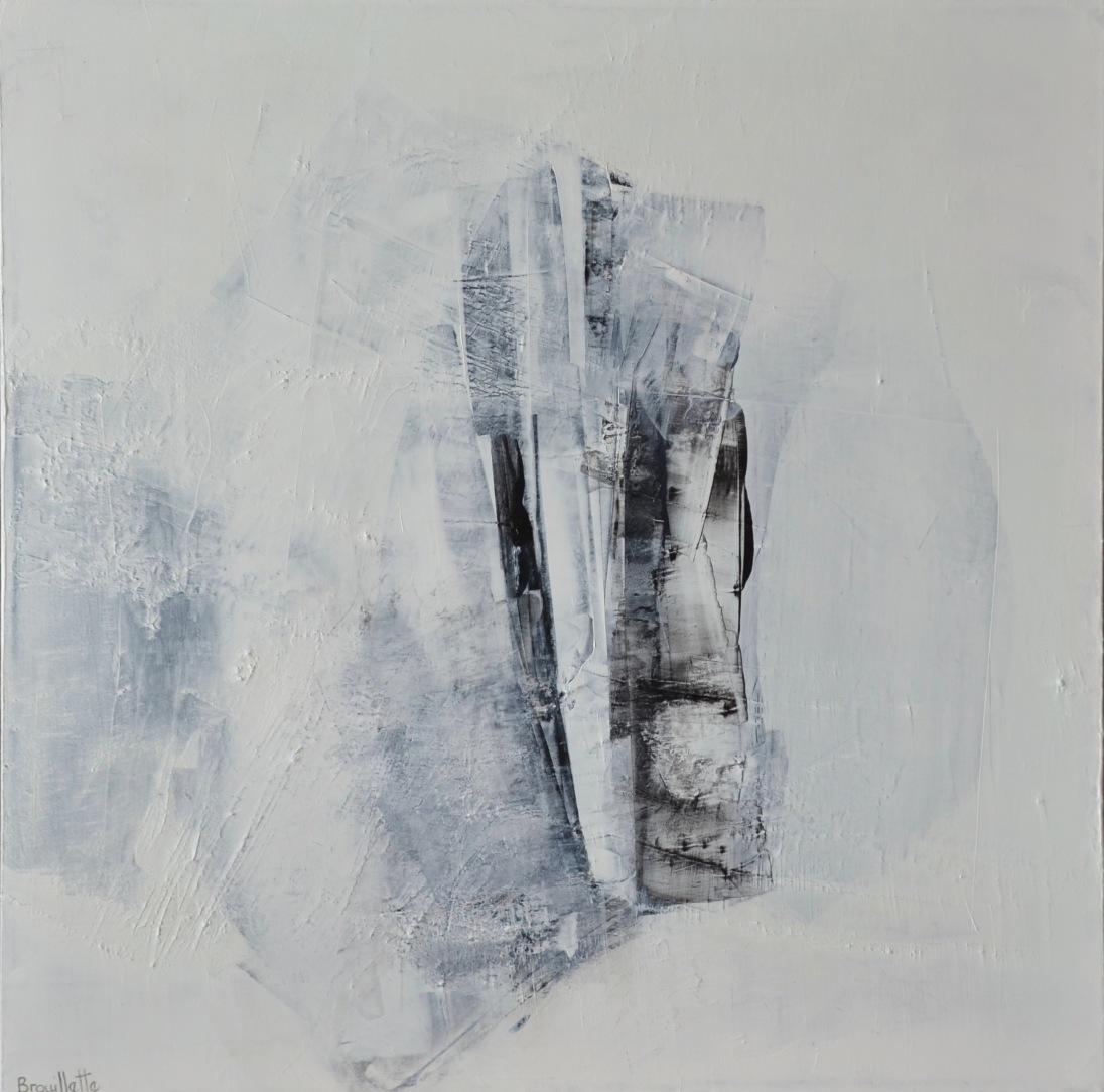 Paix intérieur (24 x 24 po) Disponible à la galerie Pauline T. Paquin
