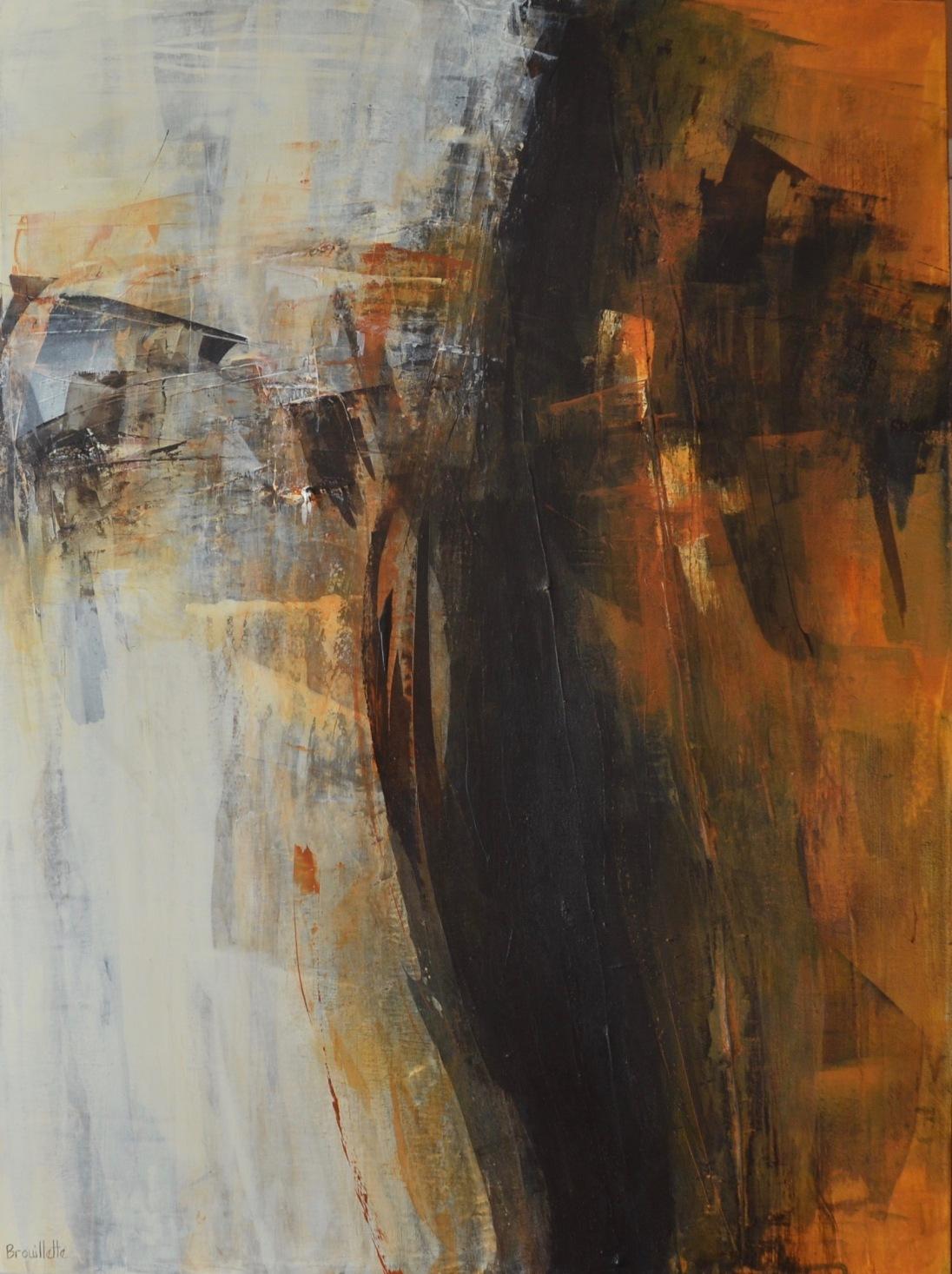 Phénix (40 x 30 po) Disponible à la galerie le Bourget