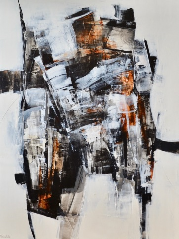 (VENDU) Entre les lignes IV (48 x 36 po) Disponible à la galerie 806 Mont-Tremblant