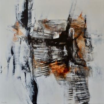 Entre les lignes V (48 x 36 po) Disponible à la galerie 806 Mont Tremblant