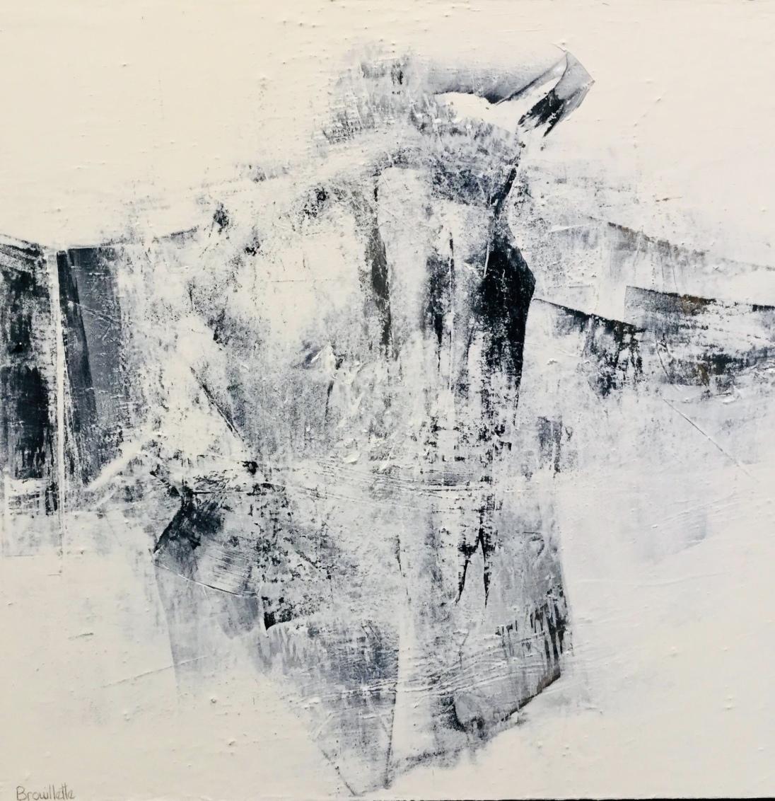 Oiseau de paix (24 x 24 po) Disponible à la galerie Pauline T. Paquin
