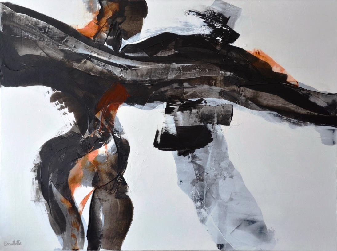 Entre nous 2 (III) 36 x 48 po) Disponible à la galerie Le Bourget
