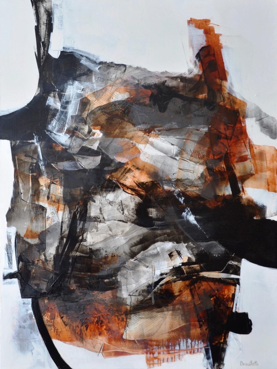Entre les lignes X (48 x 36 po) Disponible à la la galerie Le Bourget