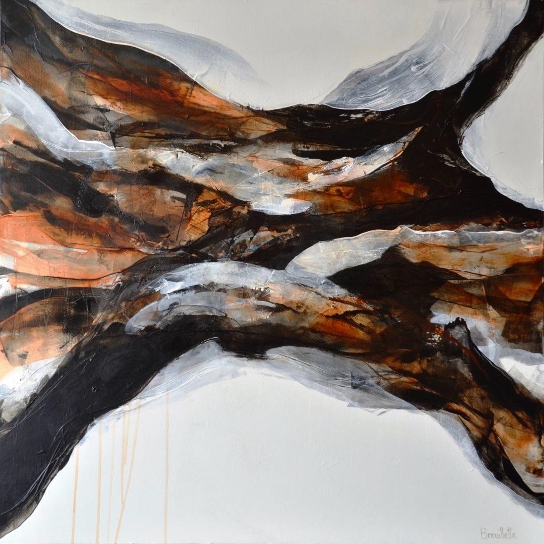 Entre les lignes XII (40 x 40) Disponible avec l'artiste